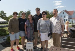 The happy oenophiles- Mary, Deb, Becky, Billy, Max, and Dave