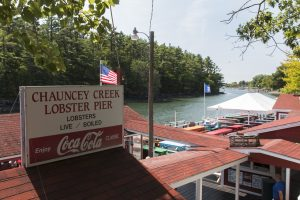 First stop on our Maine road trip was lunch at the Chauncey Creek Lobster Pier in Kittery